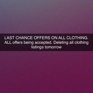LAST CHANCE OFFERS